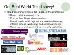 get real world trend savvy
