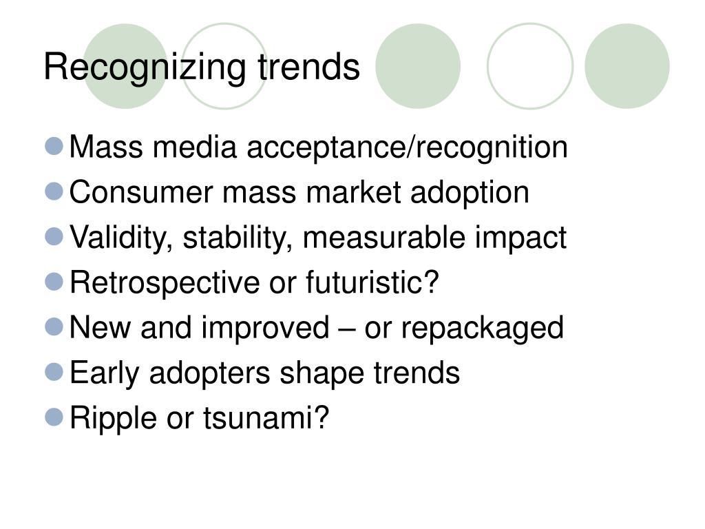Recognizing trends