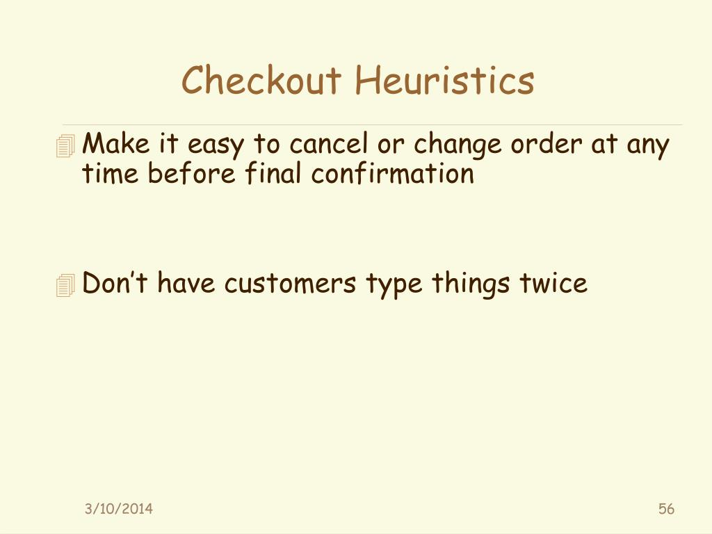 Checkout Heuristics