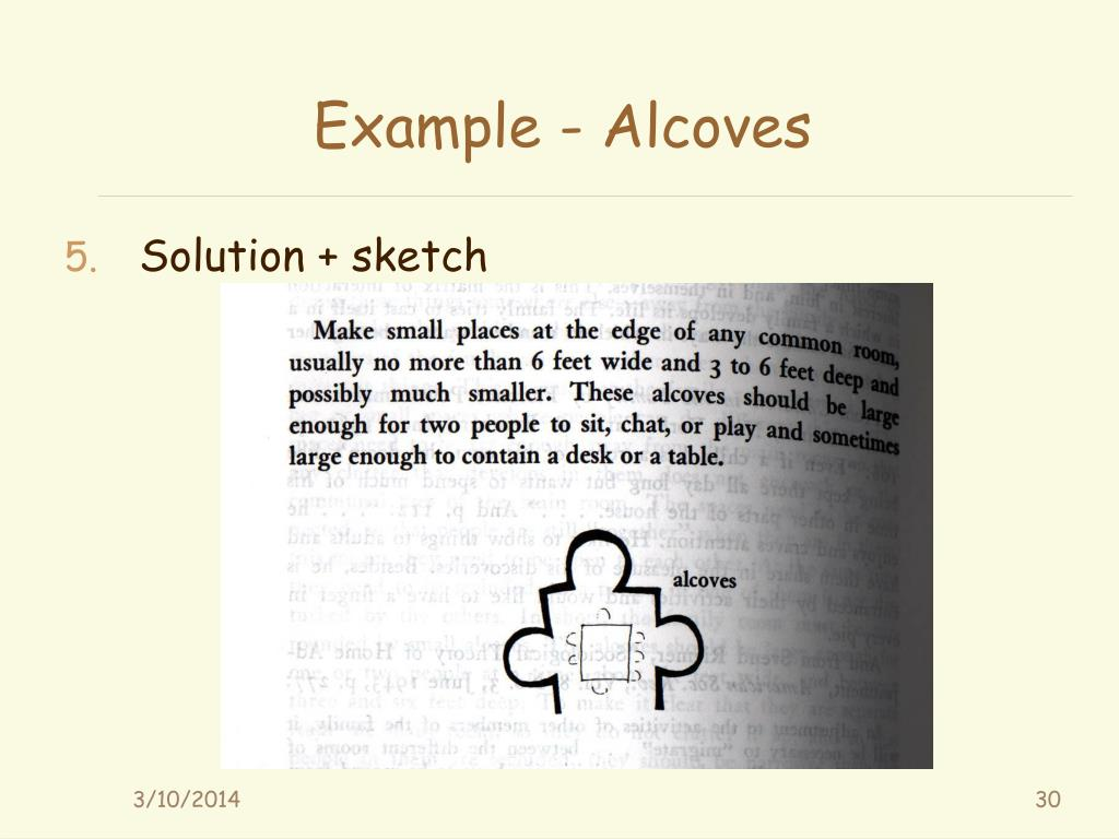 Example - Alcoves