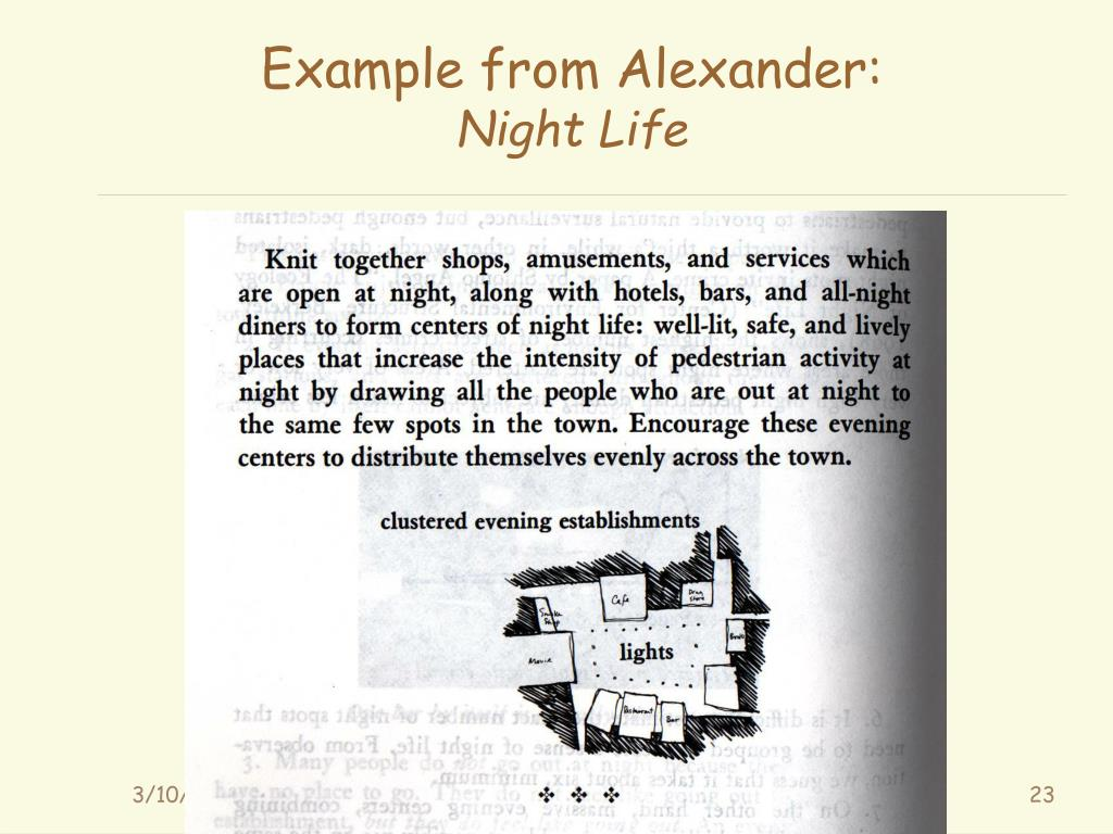 Example from Alexander: