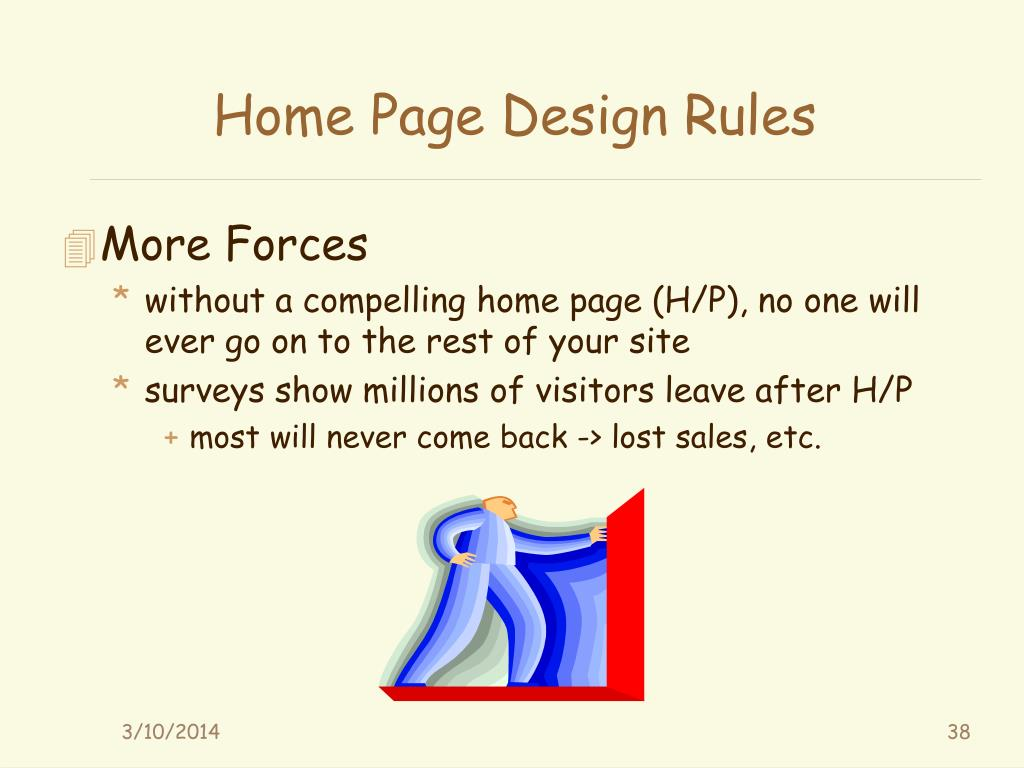 Home Page Design Rules