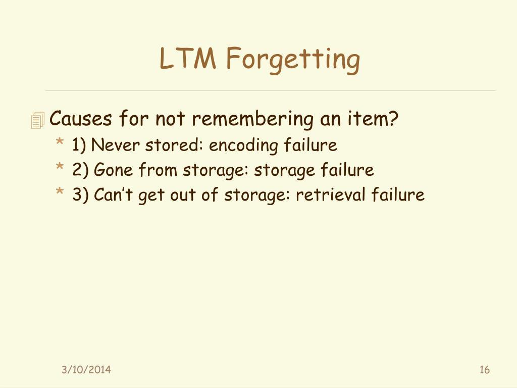 LTM Forgetting