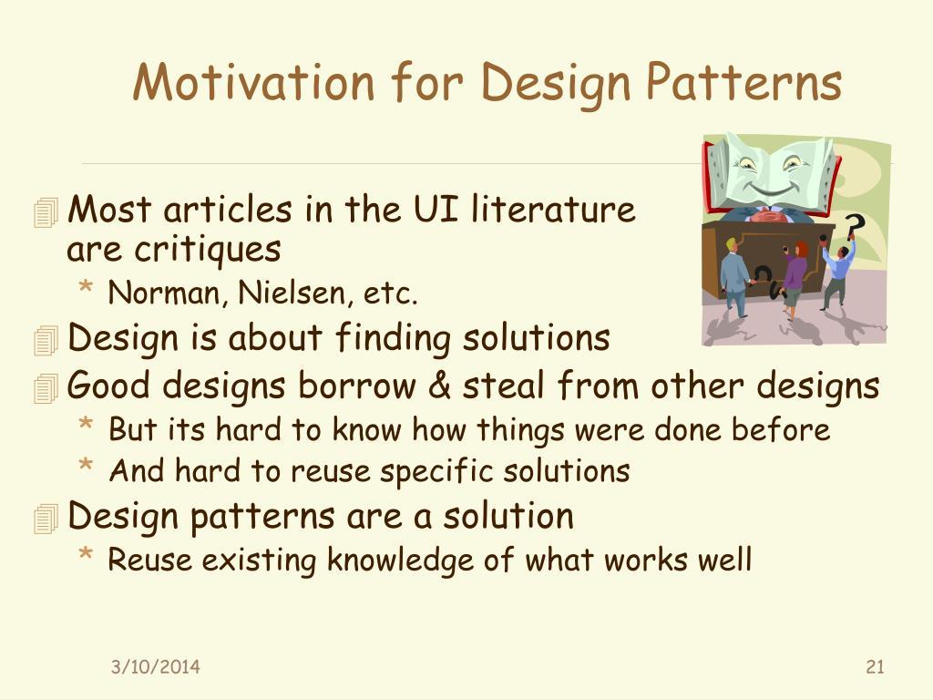 Motivation for Design Patterns