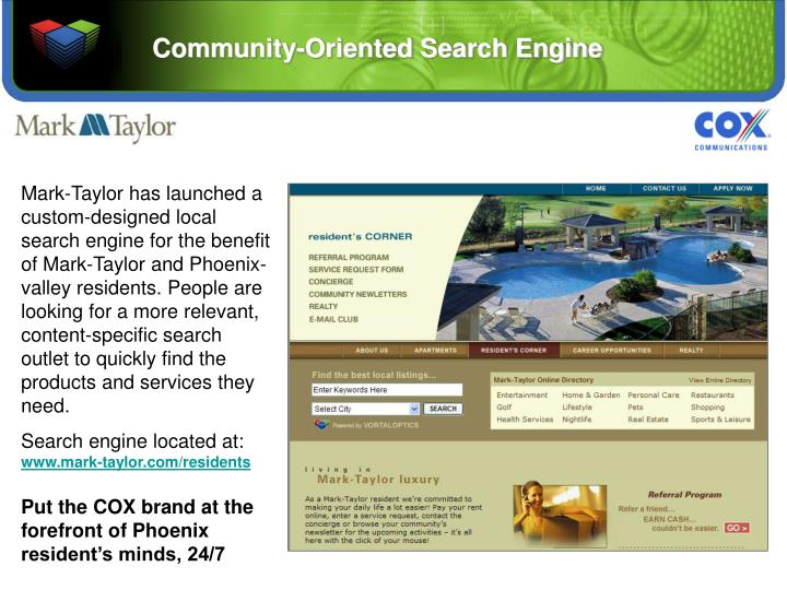 Community oriented search engine