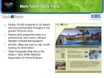 mark taylor quick facts