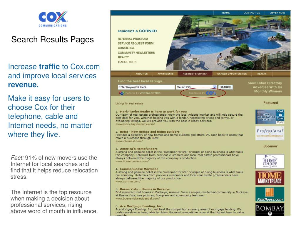Search Results Pages