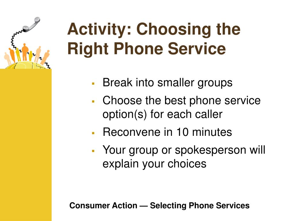 Activity: Choosing the Right Phone Service