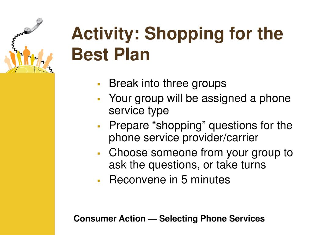 Activity: Shopping for the Best Plan