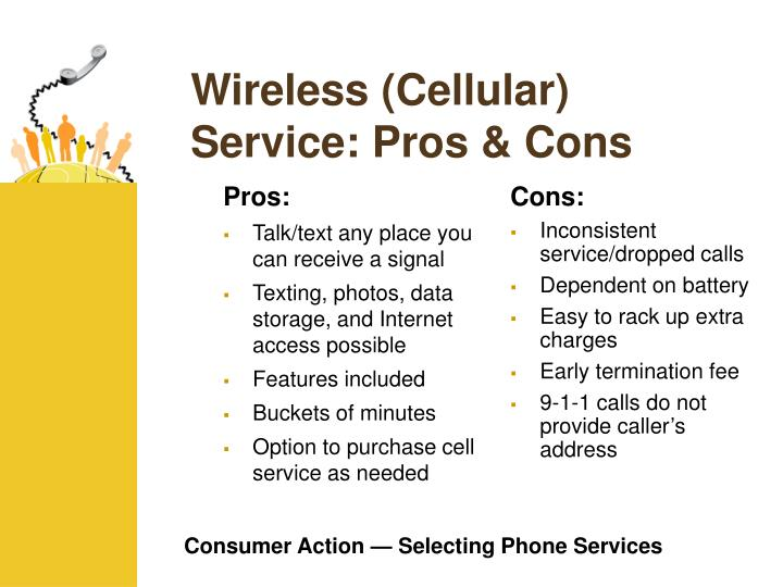 Wireless cellular service pros cons