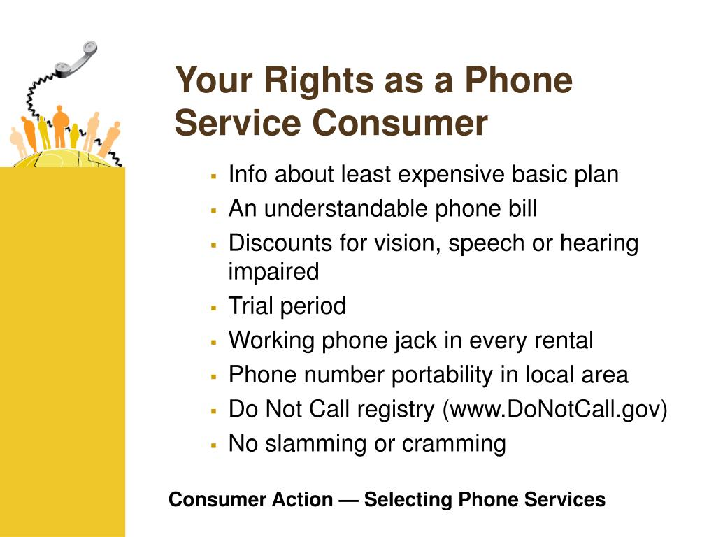 Your Rights as a Phone Service Consumer