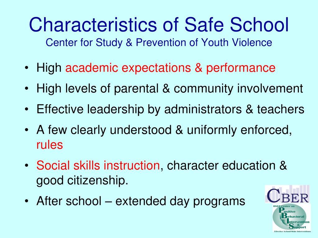 Characteristics of Safe School