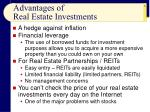 advantages of real estate investments