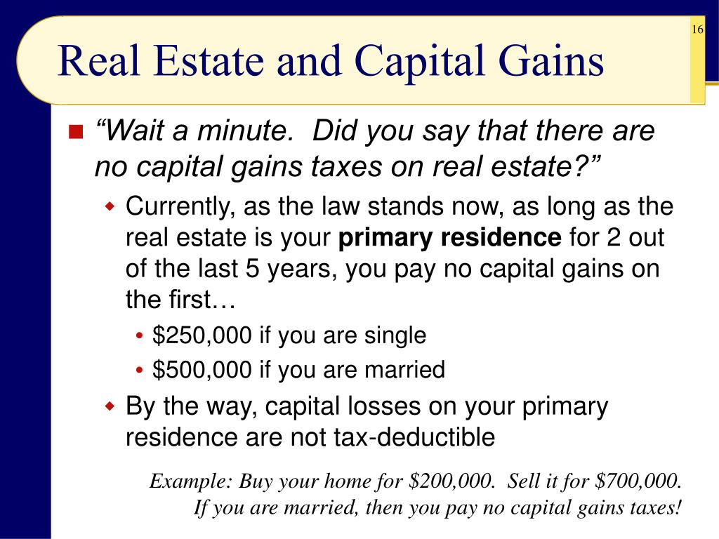Real Estate and Capital Gains