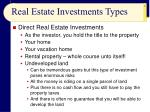 real estate investments types