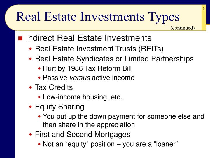 Real estate investments types3