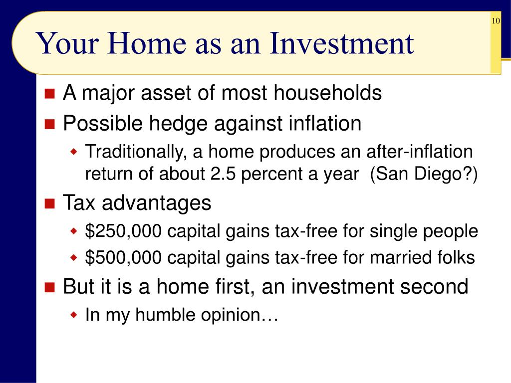 Your Home as an Investment