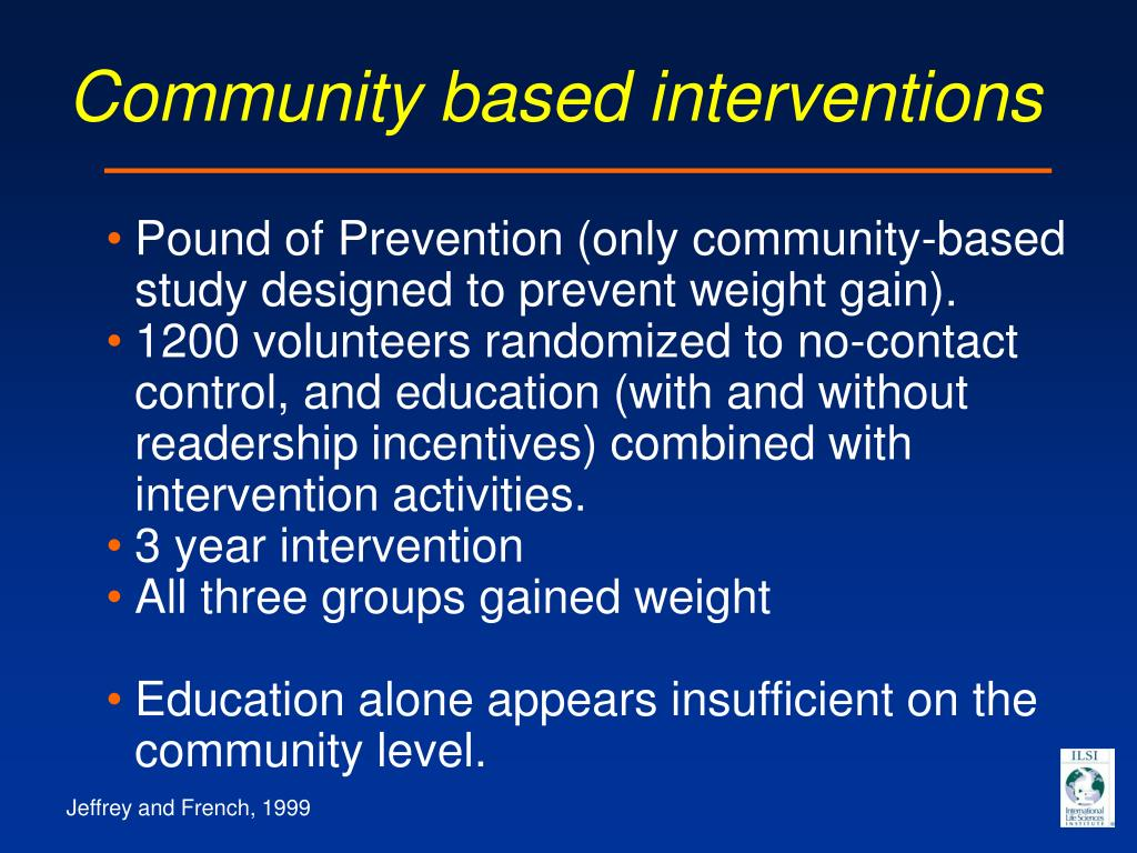 Community based interventions