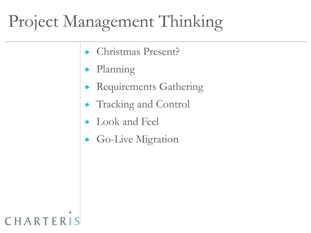 Project Management Thinking