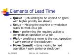 elements of lead time