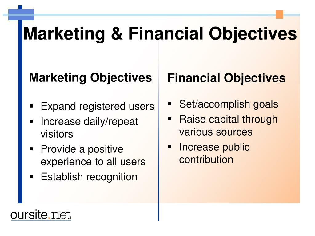 Marketing & Financial Objectives