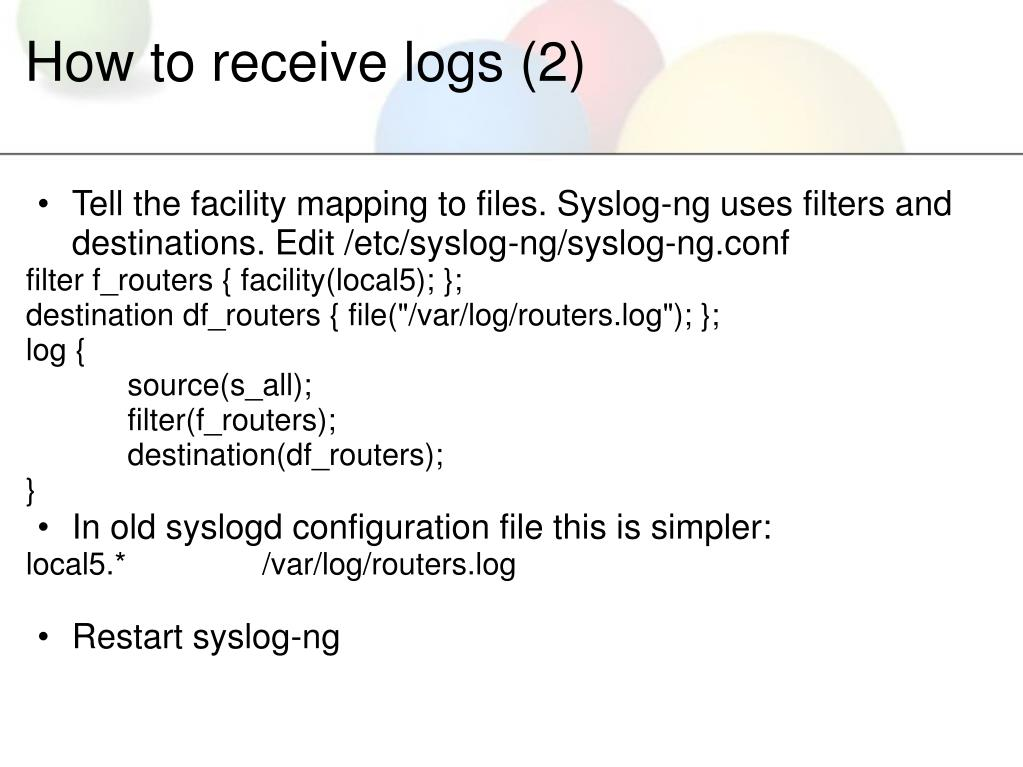 How to receive logs (2)