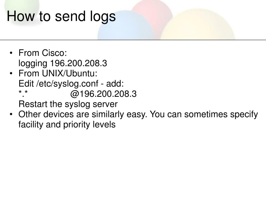 How to send logs