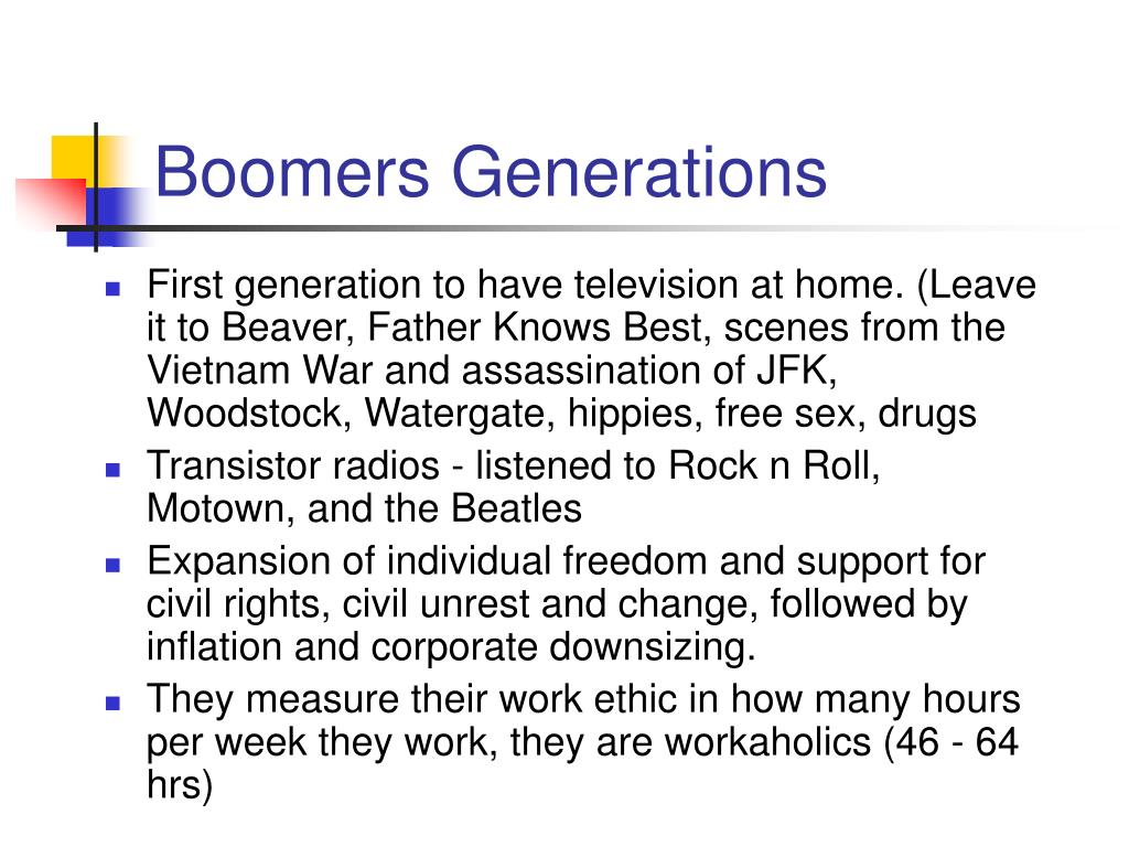 Boomers Generations