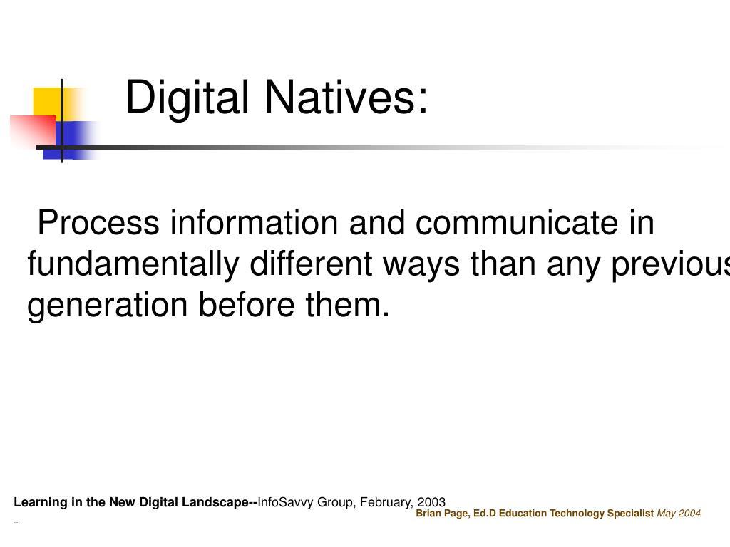 Digital Natives:
