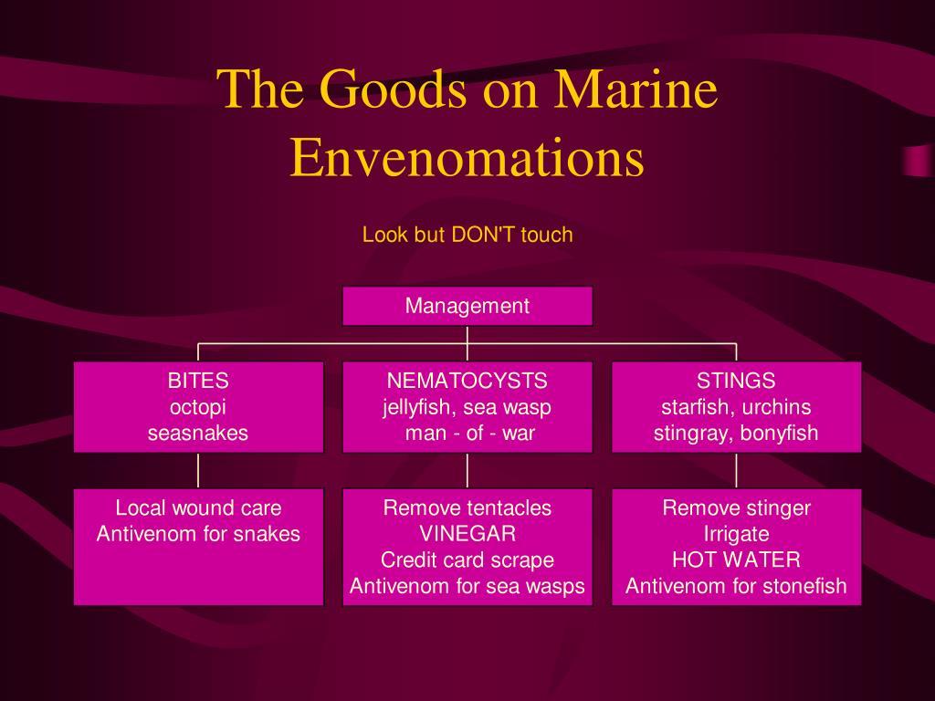 The Goods on Marine Envenomations
