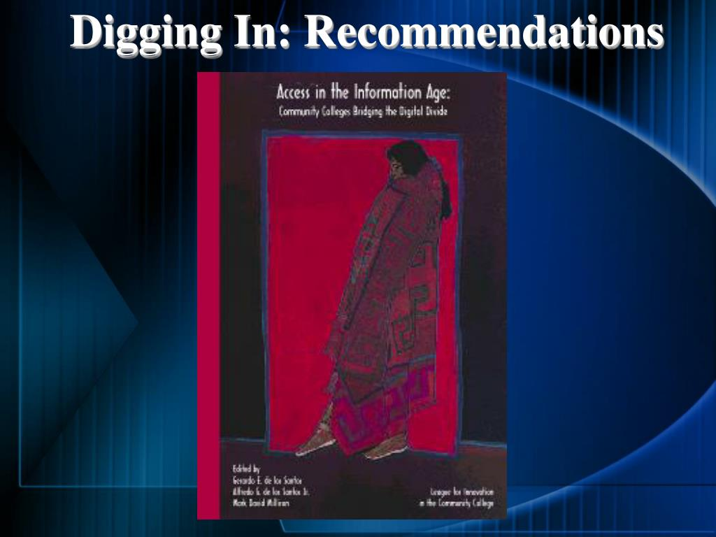 Digging In: Recommendations