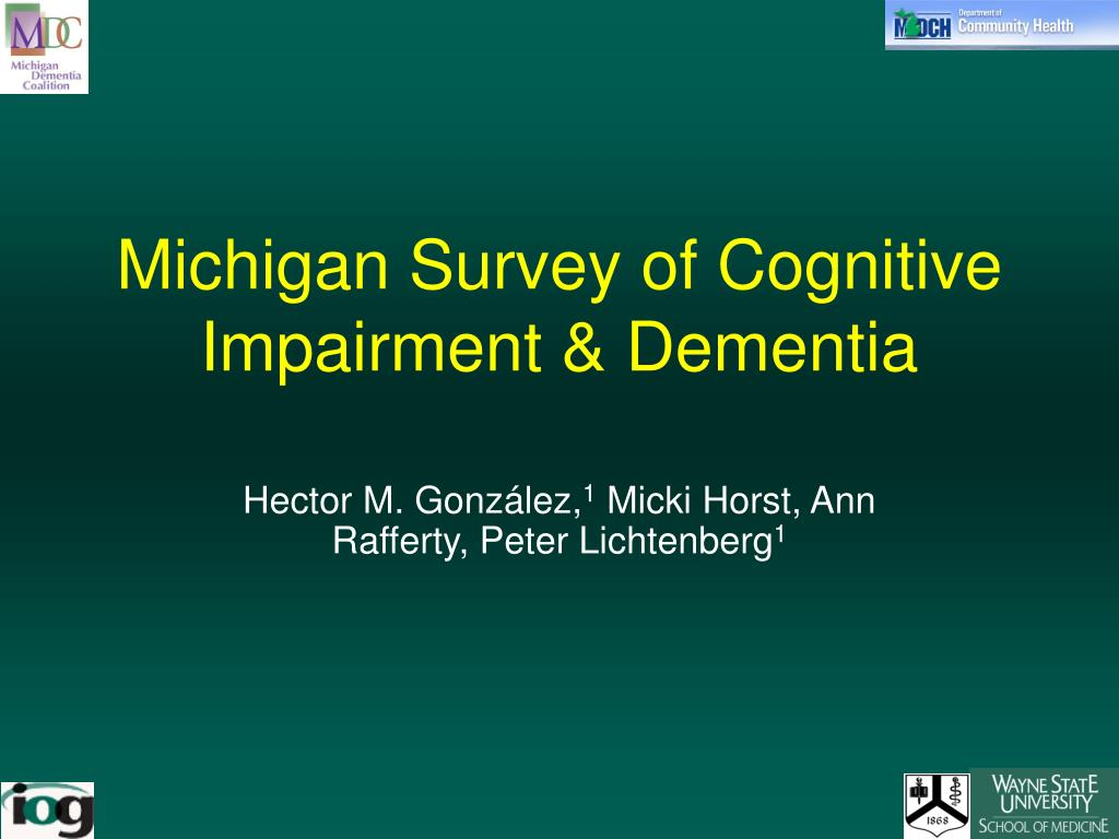 michigan survey of cognitive impairment dementia l.
