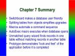 chapter 7 summary