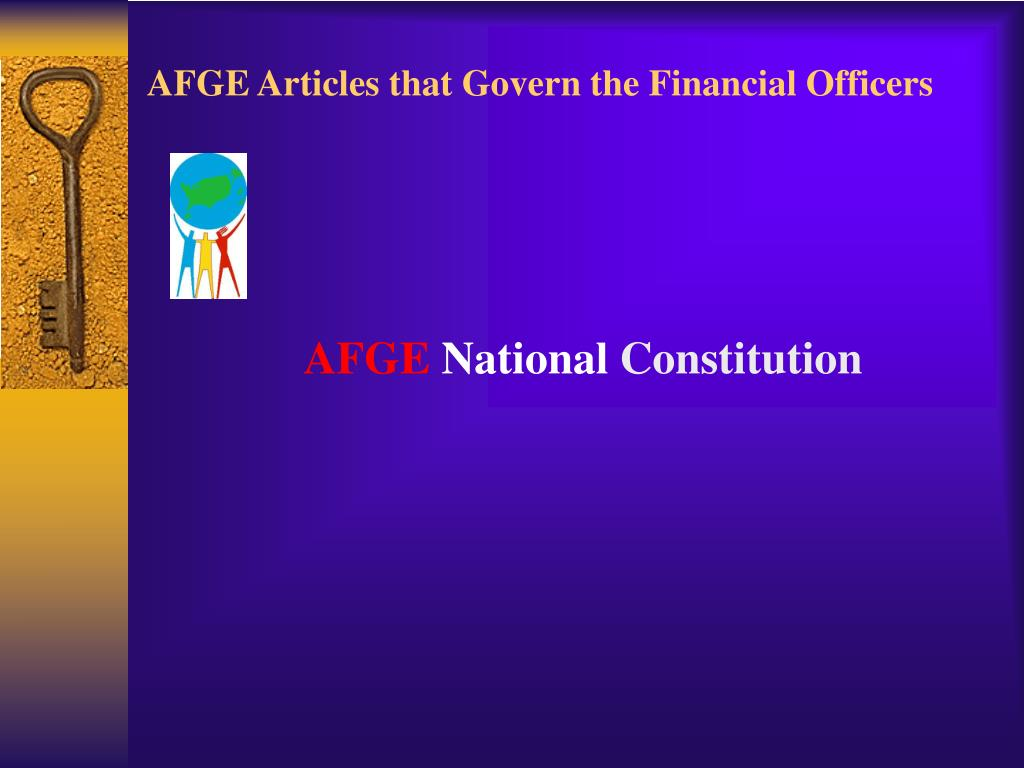 AFGE Articles that Govern the Financial Officers