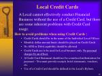 local credit cards
