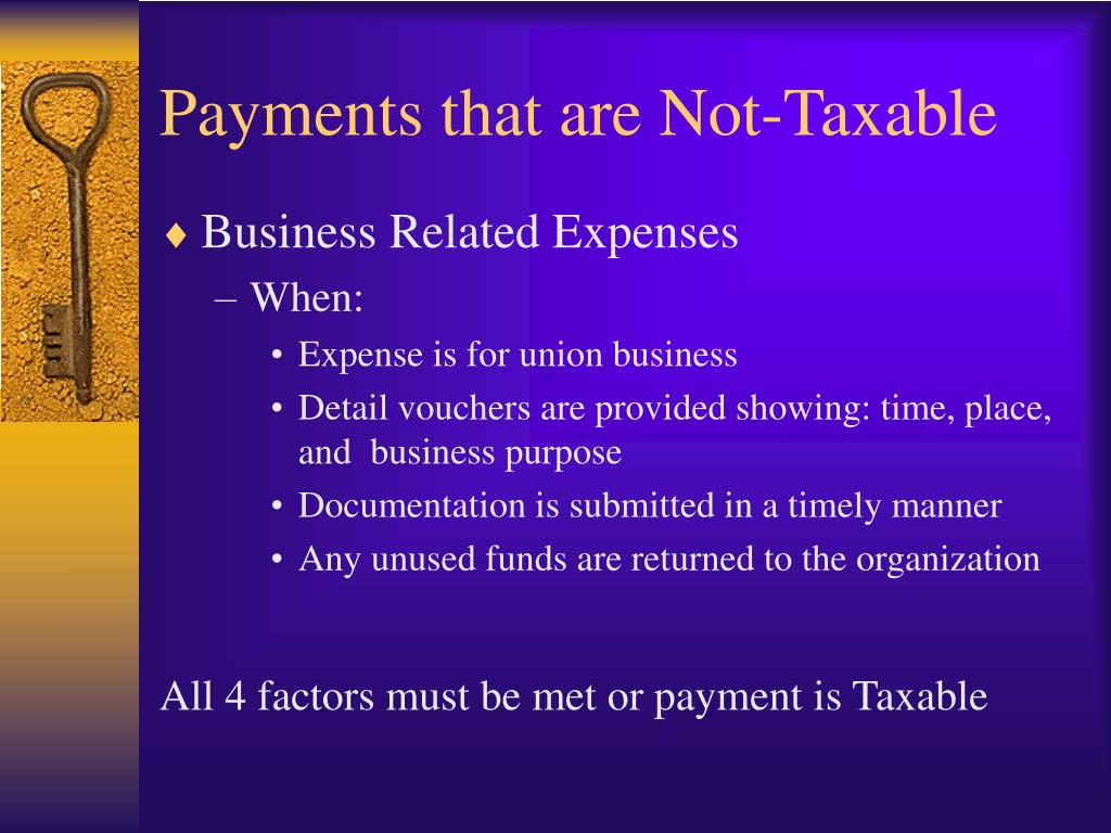 Payments that are Not-Taxable