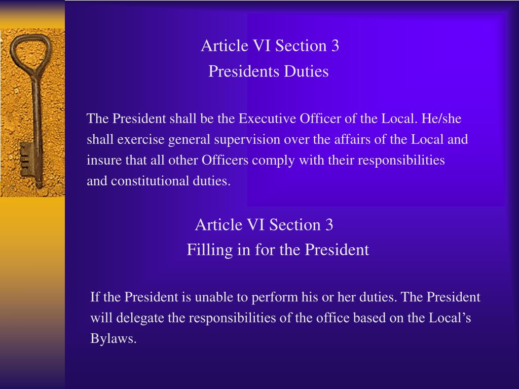 Article VI Section 3