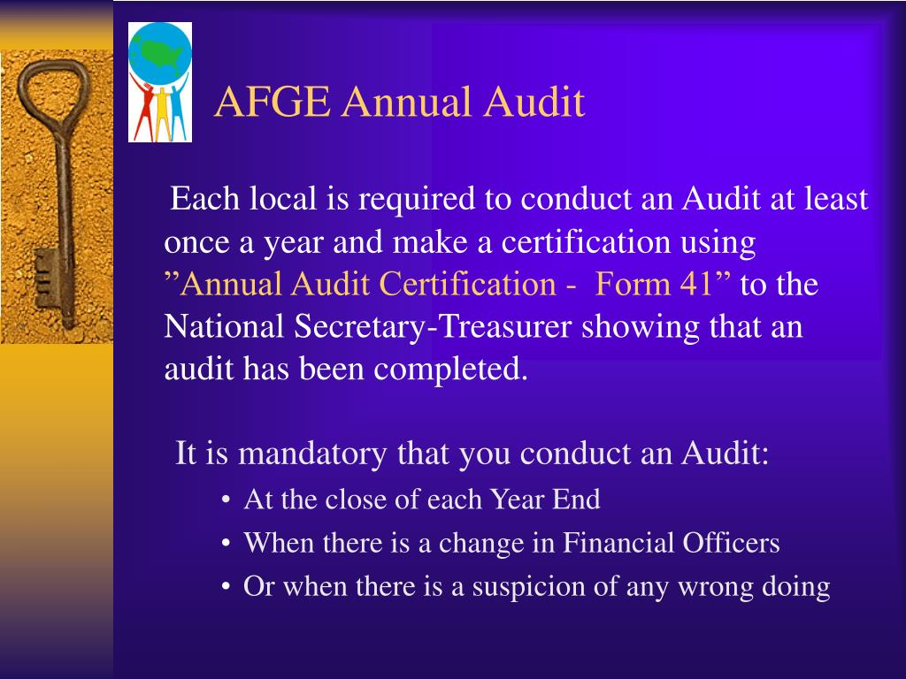 AFGE Annual Audit