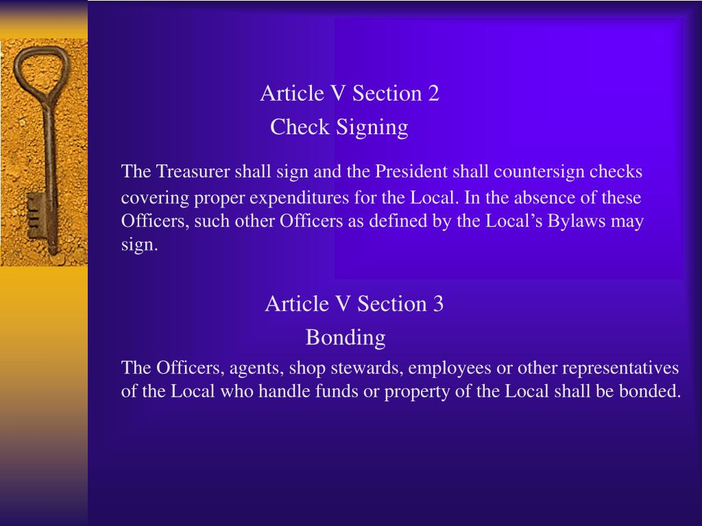 Article V Section 2