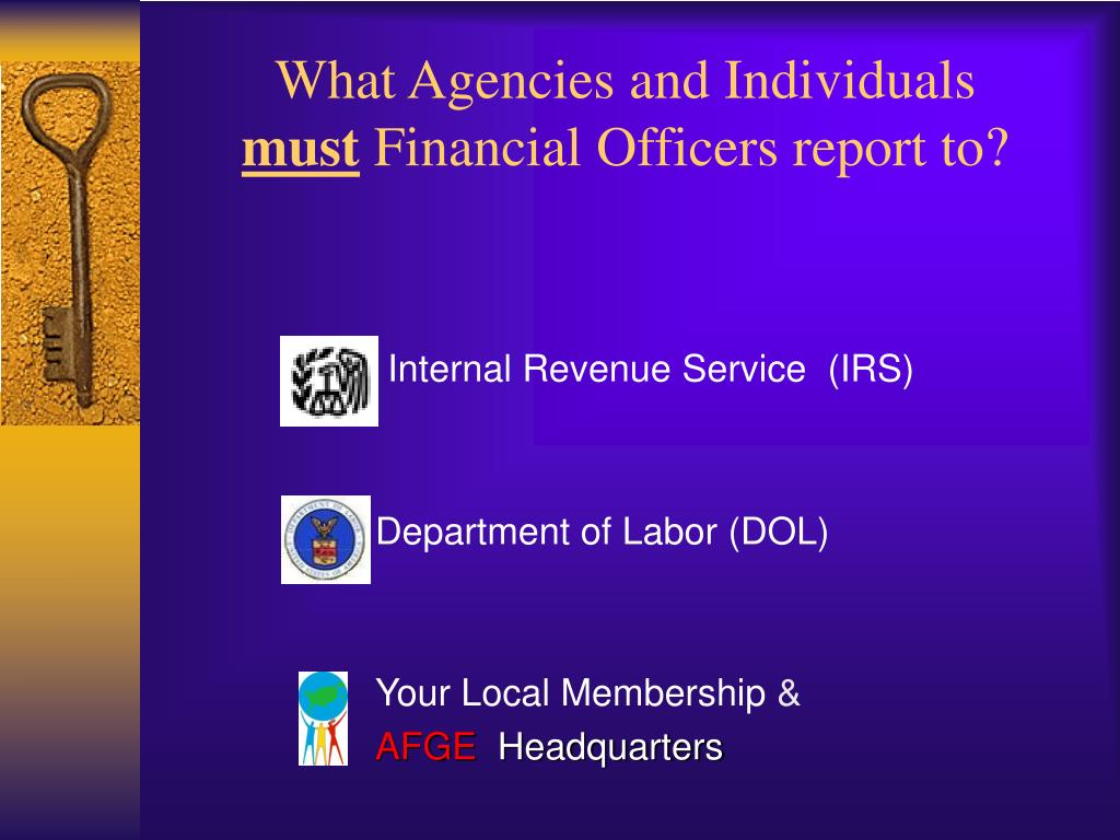 What Agencies and Individuals