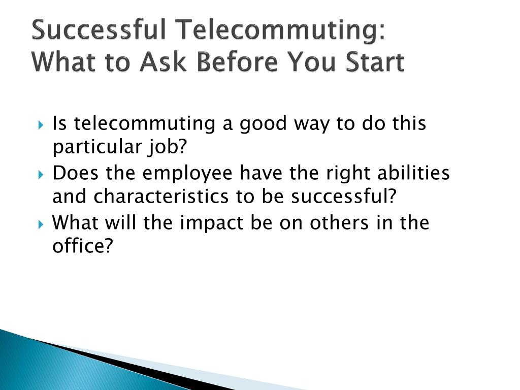 Successful Telecommuting: