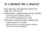 is a network like a country