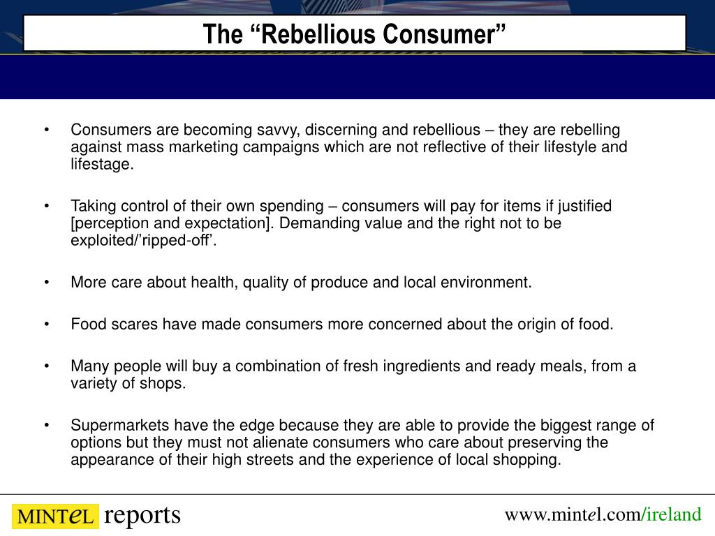 "The ""Rebellious Consumer"""