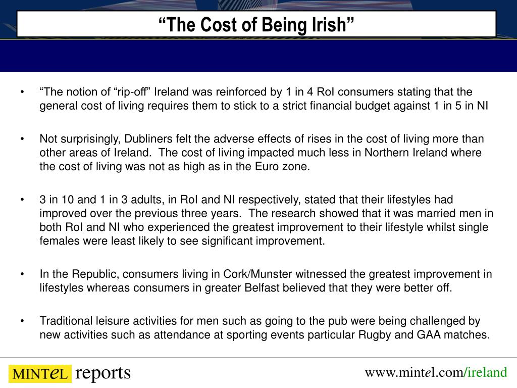 """The Cost of Being Irish"""