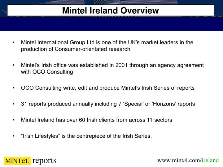 Mintel Ireland Overview