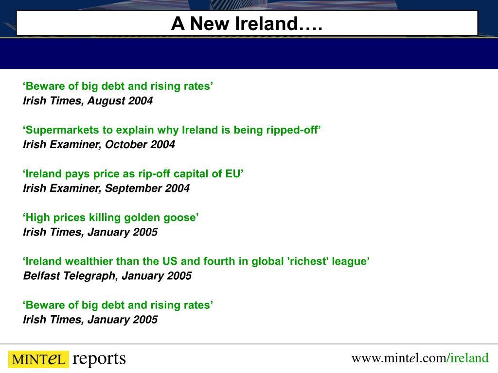 A New Ireland….
