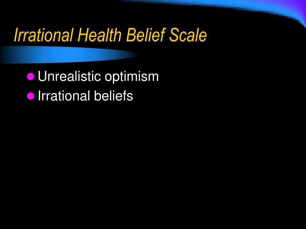 Irrational Health Belief Scale