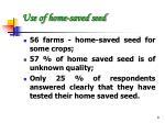 use of home saved seed