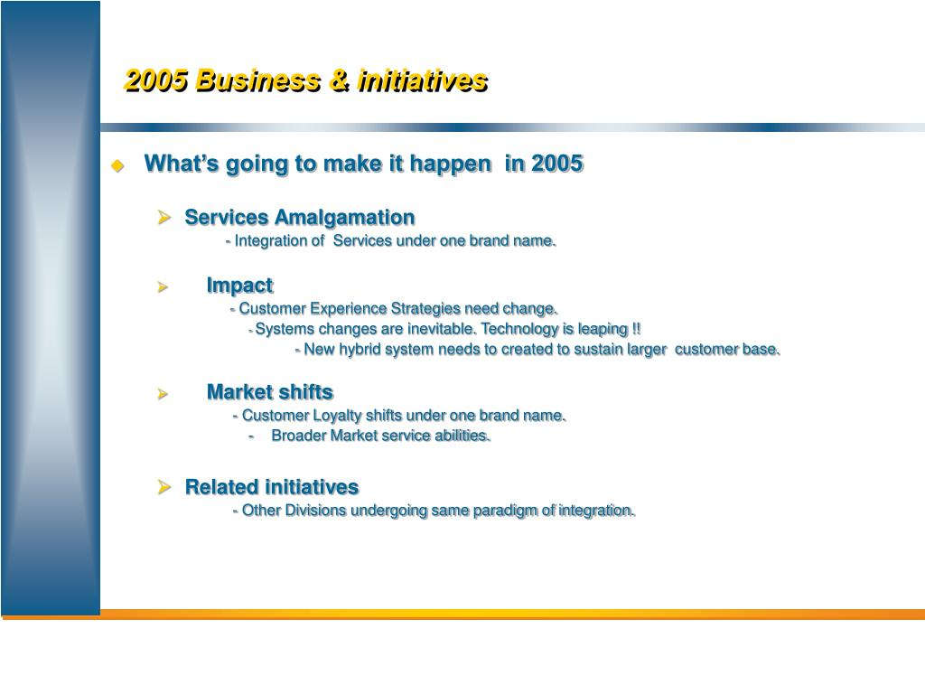 2005 Business & initiatives