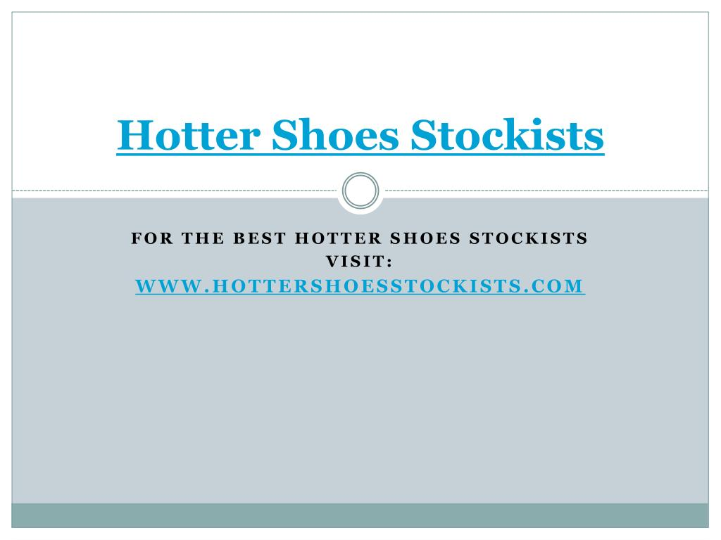 hotter shoes stockists l.